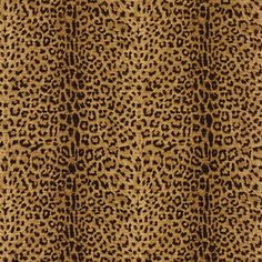 Blue Mountain Cheetah Print Wallcovering, Realistic Ochre and Black, Brown