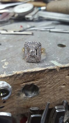 Art deco cz ring looking good