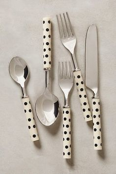 Oh So Lovely Vintage - spotty cutlery