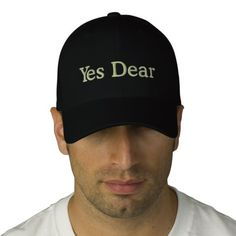 Perfect engagement / wedding gift for the groom. Yes Dear Cap for Groom Embroidered Baseball Caps