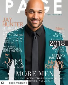 Actor JAY HUNTER is our cover-guy for the 2018 PAGE Magazine's Men's Iissue Cover Guy, Tyler Perry, It's Raining, S Man, Best Vacations, Bad Boys, Love Him, Turning