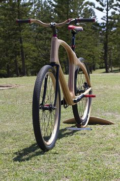 """ They may not be everyone's cup of tea, but there's nothing like a wooden bike to pique the interest of any onlooker."