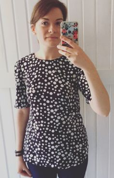 Jules' Orla top - sewing pattern by Tilly and the Buttons Tilly And The Buttons, Polka Dot Top, Sewing Patterns, How To Make, Clothes, Craft, Tops, Women, Fashion