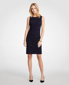 7c4c892e51e Shop Ann Taylor for effortless style and everyday elegance. Our Petite  Cotton Sateen Button Tab Sheath Dress is the perfect piece to add to your  closet.