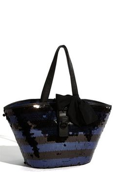 Juicy Couture 'Georgica Super Star' Sequin Straw Tote