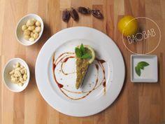 Tarta mousse de limón con chia de kiwi. En el #Menu de hoy #InspiraBaobab