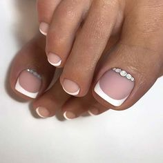 Pretty Wedding Nail Ideas for Brides-to-Be French Pedicure Idea for BridesFrench Pedicure Idea for Brides Wedding Toe Nails, Wedding Toes, Wedding Manicure, Wedding Nails For Bride, Bride Nails, Wedding Nails Design, Maroon Wedding, Bridal Toe Nails, Bridal Pedicure