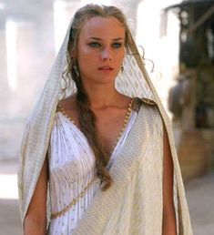 """Diane Kruger """" Diane Kruger is a German actress and former fashion model. She is known for roles such as Helen in Troy, Dr. Troy Movie, Greek Dress, Helen Of Troy, Greek Fashion, Rachel Bilson, Period Outfit, Style Casual, Sarah Jessica Parker, Movie Costumes"""