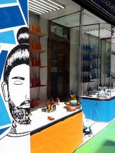 Decoraccion 2017 - Intervención en Droguería Castillo pintando mural exterior