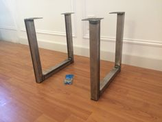 Steel U shape metal table or bench legs for an industrial look