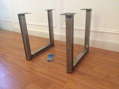 Steel U Shape Metal Table Or Bench Legs For An Industrial Look