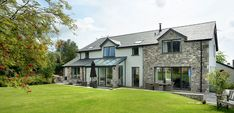 House Designs Ireland, My Ideal Home, Ireland Homes, Glass Roof, Private Garden, Solar Panels, Bungalow, Cottage