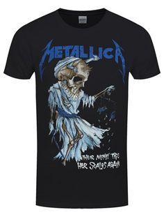 Metallica Inspired Mens T-Shirt Enter Sandman Ladies Heavy Metal T-Shirt Rock