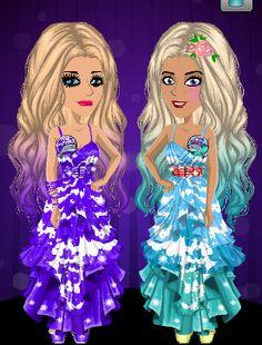 Me in purple with my school friend Katie