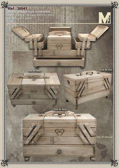 Travailleuse bois couture avec tiroir gris antique knit for Travailleuse a couture en bois