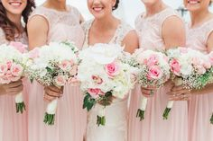 River House | Blush & Ivory Wedding Details | Wedding Dress | Bridesmaids | St. Augustine Photographer | Engagement Photography | The Copper Lens | Bouquets | Pink Spring