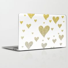 Glitter Hearts by Psychae as a high quality Laptop & iPad Skin. Worldwide shipping available at Society6.com. Just one of millions of products…