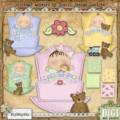 Nite Nite Baby 1 - Exclusive Cheryl Seslar Country Clip Art