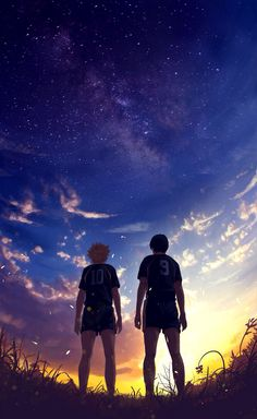 Kageyama Tobio x Hinata Shouyou. This pic reminds me of their defeat at the inter-highs. I cried so much which was pretty lame of me but oh well.