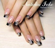 French nails design galerie For other models, you can visit the category. For more ideas, … French Nail Designs, Beautiful Nail Designs, Beautiful Nail Art, Cool Nail Designs, Awesome Designs, Diy Nails, Cute Nails, Pretty Nails, Fabulous Nails