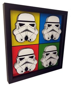 Stormtrooper Helmet Star Wars Poster 3D Pop Art Print by PopsicArt