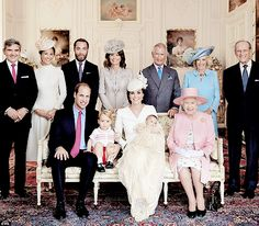 Royal family after Charlottes christening . July    2015