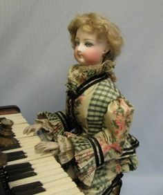 """Magnificent Antique French Musical Automaton """"Lady at The Piano"""" by Gustav Vichy"""