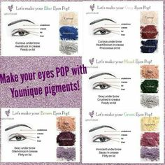 Which pigment colors for your eye color https://www.youniqueproducts.com/Winter/products/landing