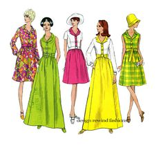 1960s VOGUE DRESS PATTERN Vogue 1942 Basic Design Day Dress or Mod Evening Gown Maxi Dress Bust 34 Vintage Womens Sewing Patterns Size 12 by DesignRewindFashions on Etsy