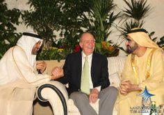 Mohammed bin Zayed bin Sultan Al-Nahyan, Juan Carlos I de España y Mohammed bin Rashid bin Saeed Al Maktoum (13/11/2011)