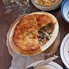 Ham and spinach pie recipe. Try making this great leftovers pie with savoy cabbage or kale instead of spinach for a wintry flavour