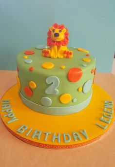 Lion cake for a 2 year old
