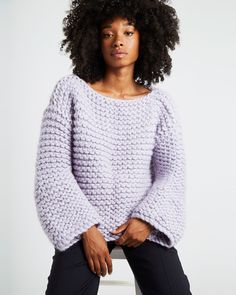 DREAMIN' JUMPER / KIT Easy Knitting, Knitting For Beginners, Jumper Patterns, Knitting Patterns, Spinning Wool, African Lace Dresses, Blue Dragonfly, Khaki Green, Cute Dresses