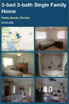 3-bed 3-bath Single Family Home in Punta Gorda, Florida ►$164,990 #PropertyForSale #RealEstate #Florida