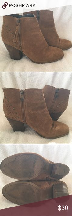 Guess Ankle Booties On trend ankle fringe boots from Guess, worn only a handful of times. In good used condition. Guess Shoes Ankle Boots & Booties