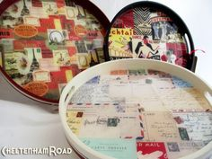Make a resin coated postage tray. Durable and beautiful.