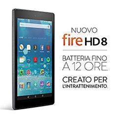 Nuovo tablet Fire HD 8, schermo HD da 8'', Wi-Fi, 32 GB (Nero) - Con offerte speciali