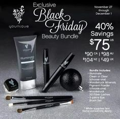 Black Friday beauty bundle!! Get yours now #younique #3dfiberlashmascara www.youniqueproducts.com/JessicaGarstkiewicz