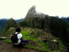 Looking at the Machu Picchu #MachuPicchu #Peru #LatinAmerica #Travel #Adventure