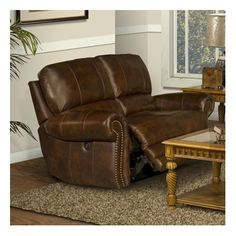 Parker Living Motion Thor Leather Match Dual Recliner Loveseat : bronson recliner - islam-shia.org