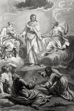 Phillip Medhurst presents Bowyer Bible print 3740 The transfiguration Matthew 17:1-6 Picart on Flickr. A print from the Bowyer Bible, a grangerised copy of Macklin's Bible in Bolton Museum and Archives, England.
