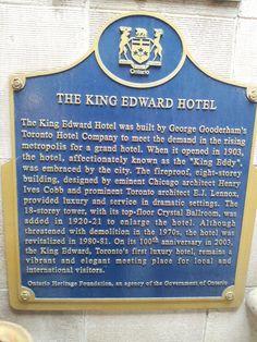 King Edward Hotel, Toronto, Ontario