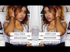 Full Face Drugstore Makeup Tutorial || BeautyDoll Culey - YouTube Today's beauty video is a Full face makeup tutorial for everyone looking to have access to a full face of making without braking the bank. You are capable of getting the same clean full face of makeup with drugstore makeup products. This video will how you how.  If you would like more makeup tutorials and fashion videos Subscribe for more.