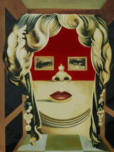 """""""II Volto di Mae West,"""" Salvador Dali #portrait #art"""