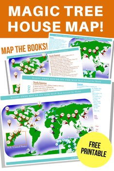 Read Around the World with The Magic Tree House Map Magic Tree House Map, 8 printable posters for around the world lesson plans. Magic Tree House Lessons, Homeschool Apps, Homeschooling, Homeschool Kindergarten, Kindergarten Worksheets, Preschool, Geography For Kids, Teaching Geography Elementary, Magic Treehouse