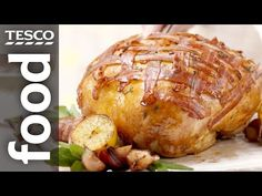 How to Cook a Crown of Turkey | Tesco Food  Impress your guests with this impressive crown of turkey, coated in a heavenly garlic butter and a criss-cross pattern of smoky pancetta. Learning how to cook a …  http://LIFEWAYSVILLAGE.COM/cooking/how-to-cook-a-crown-of-turkey-tesco-food/