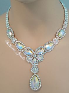 Ballroom Necklace Swarovski Pears and drop