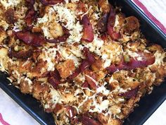 Beer cuts the richness of the bacon and cheddar in this surprising stuffing recipe. Get the recipe from Delish.   - Delish.com