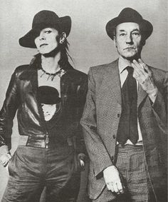 David Bowie and William S. Burroughs, 1974.