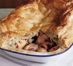 British Chicken & Mushroom Pie. So delicious. Use a measuring cup that has ml measurement